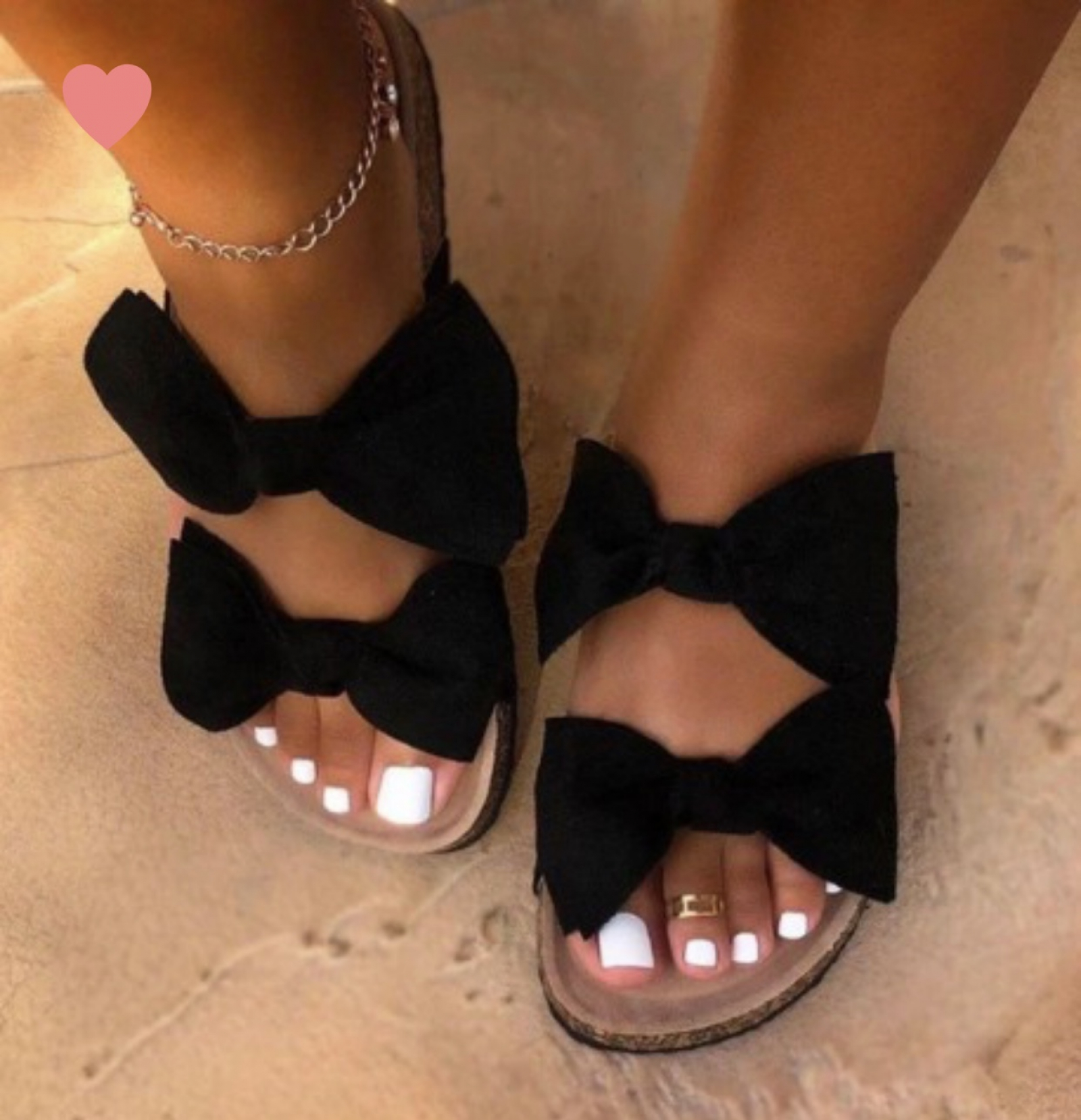 Double Bow Sandals | Fetish Footwear